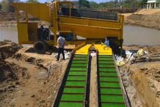 移动砂金开采设备