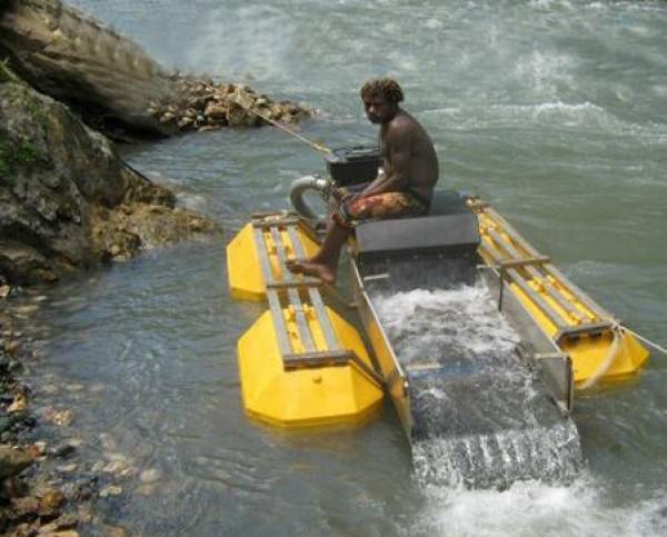 小型河道淘金船